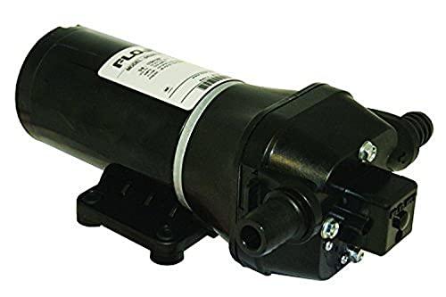Flojet 04305144L Bomba de lavado de cubierta con boquilla, 3,5 GPM, 40 PSI, 12 V, 10 A, color negro