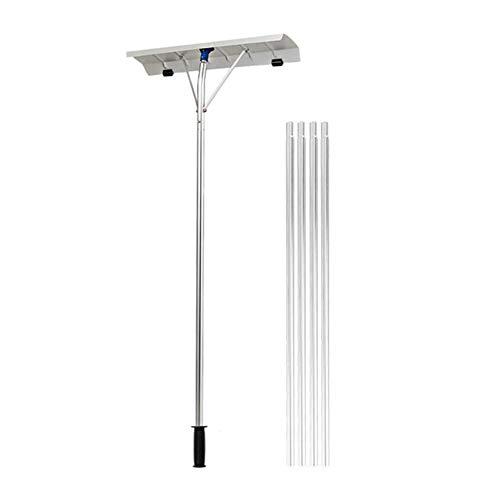 SSRSHDZW Rastrillo de Techo de Nieve, Pala de Nieve Ajustable, con Estructura de aleación de Aluminio, para Quitar Nieve de Techo - Compacto portátil fácil de Usar para automóvil