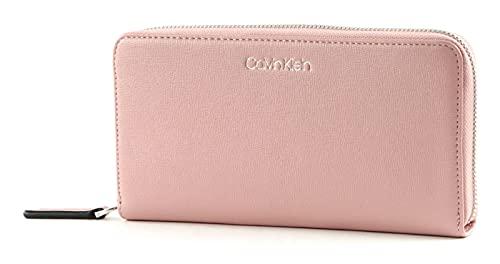 Calvin Klein Saffiano Zip Around Wallet Blush