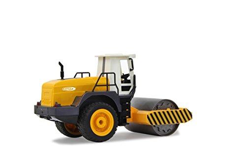 RC Auto kaufen Spielzeug Bild 3: Jamara 410011 - Straßenwalze 1:20 m. Rüttelfunktion 2,4G - Vibrationsmotor in der Walze, realistischer Motorsound, Hupe, Rückfahrwarnsound Blinker, Licht vorne / hinten, profilierte Gummireifen*