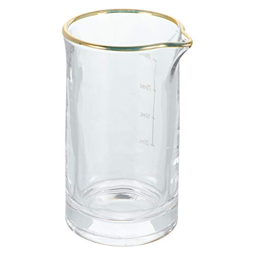 Angoily Barra de Cristal Mezcladora de Cóctel Profesional para Agitar Bebidas con Escala de 100Ml (Transparente)