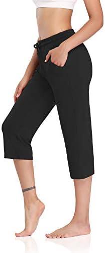 DIBAOLONG Womens Yoga Pants Capri Wide Leg Comfy Drawstring Loose Lounge Workout Pants with product image