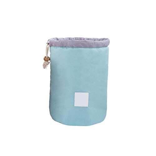 Große Kapazitäts-Make-up-Beutel-beweglicher Zylinder Cosmetic Organizer Ersatz Kordelzug Taschen Makeup Pouch Light Blue