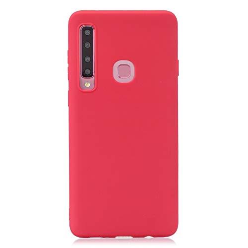 BSA Cover per Samsung Galaxy A9 SM-A920F (2018) A9 Star PRO (2018) A9s Rosso TPU Flessibile Morbida Ultra Sottile Anti Graffio HD Case Custodia Compatibile Smartphone