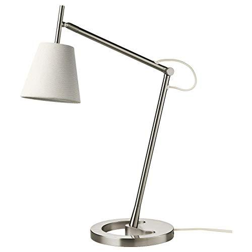 IKEA NYFORS Lámpara escritorio de trabajo, niquelado blanco A++