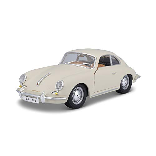 BBurago 18-22079 - Bijoux Collezione 1:24 Porsche 356B Coupé 1961, Beige