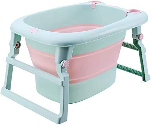 Bañera plegable del bebé, cubo de baño universal de mentira/mentira, cubo de baño largo de gran tamaño,A
