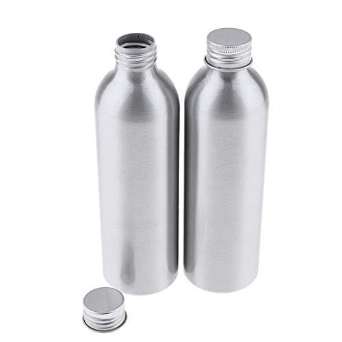 yotijar Contenedor de Almacenamiento Amistoso No Tóxico de La Botella de Agua de Aluminio Multifunción de 2 Piezas - 250ml
