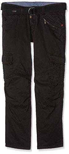 Timezone Herren BenitoTZ cargo pants incl. belt Hose, Schwarz (black 999), W36/L30