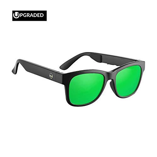 Horizon Outdoor Alien 5 Bone Conduction Glasses Wireless Bluetooth 4.1 Headphones Polarized Sunglasses Myopia Waterproof Wireless Headset Hearing Aid for...