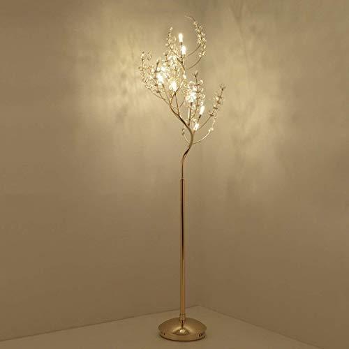 JYXJJKK Lámpara de pie para salón Lámpara de pie de estilo europeo Sala Led Crystal Lámpara de la personalidad creativa Diseñador posmoderna atmosférica luz del paisaje de lujo