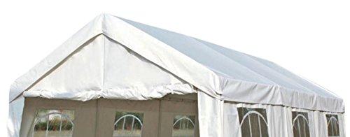 DEGAMO Ersatzdach Dachplane für Zelt 3x6 Meter, PE Weiss 180g/m², incl. Spanngummis …