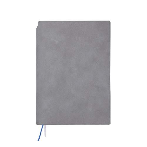 Cuadernos A5 Business Notebook Mejor Escritura Diario Prima de imitación de Cuero Suave Cubierta de Cuero de imitación Hardcover al Maestro Classmate Blocs de Notas y Diarios (Color : Gris)