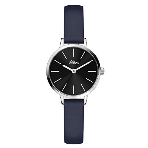 s.Oliver Damen Analog Quarz Armbanduhr mit Kunstleder SO-4144-LQ
