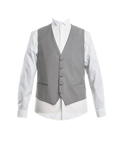 Masterhand Classics Cutweste Grau Comfort Fit normaler Schnitt 100% Schurwolle Weste Concord 52