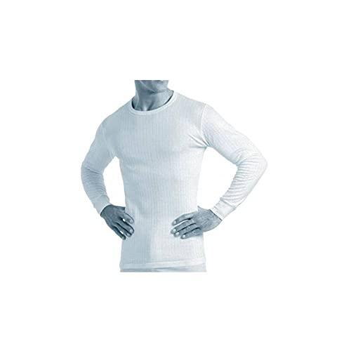 Abanderado Termal algodón Invierno C/Redondo Camiseta térmica, Blanco, XL para Hombre