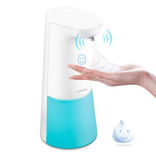 LAOPAO Soap Dispenser, Automatic Foaming Soap Dispenser Hand Free Countertop Soap Dispensers Xmas Gift Touchless Soap Pump Dish Soap Dispenser for Kitchen&Bathroom