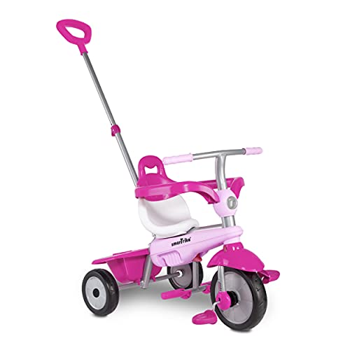smarTrike Breeze Toddler Tricycle for 1,2,3 Year Olds - 3 in 1 Multi-Stage Trike, Pink