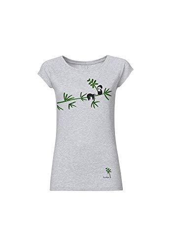 FellHerz Damen T-Shirt Faultier Hellgrau Bio und Fair (XL)