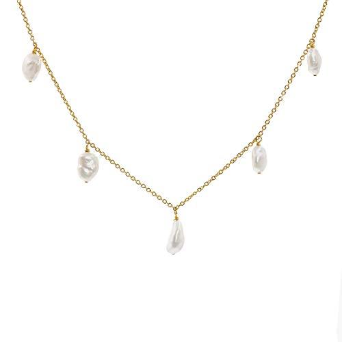 Secret & You Collar Mujer Cinco Perlas Cultivadas
