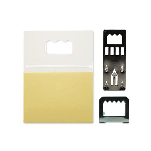 Foam Board Assortment Sawtooth Frame Hangers - 25 Pack Includes Kwik Hangers, Metal Sawtooth Hangers, and Sawtooth Adhesive Frame Hangers - Supports 1-3 Pounds