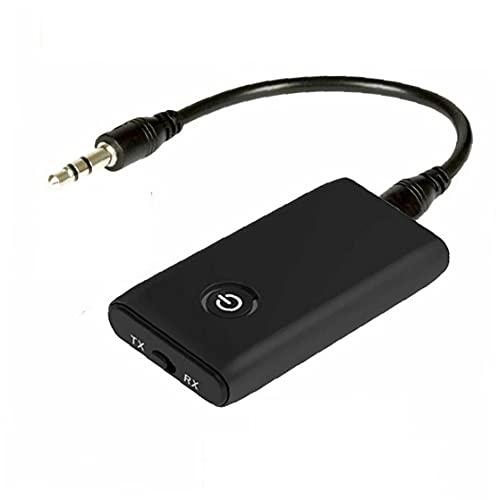 Obelunrp Receptor de Audio inalámbrico 2 en 1 Adaptador de transmisor con Cable de 3,5 mm para Auriculares portátiles Accesorios electrónicos convenientes