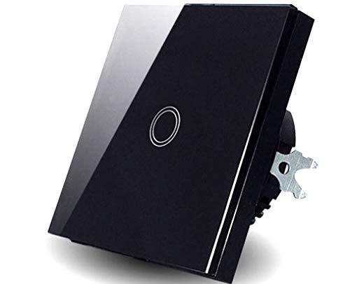 Glasplatte 1 Gang 1 Weg Touch Typ Schalter Touch Lampe Touch LED Schalter Schwarz Farbe