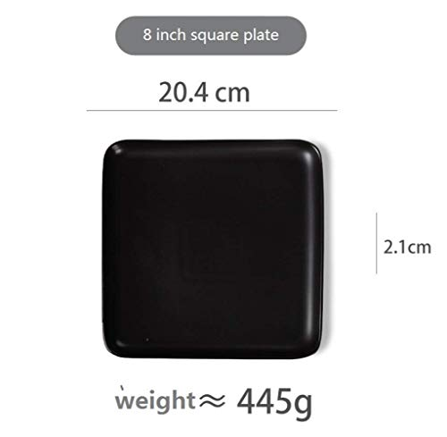Plate, Nationale Ontbijt Western Steak plaat, Keramiek en plaat Combinatie, Huishouden Keukengerei Set dik en duurzaam / 20.4x2.1cm A chopping board (Color : Black, Size : 20.4x2.1cm)
