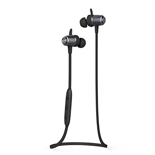 Wireless Bluetooth Earphones, J&L-103 Wireless Stereo Sports Headphones with Magnetic Function (IPX5 Sweatproof, Bluetooth V4.1, APT-X, CVC 6.0, Handsfree Calling)(Dark Grey)