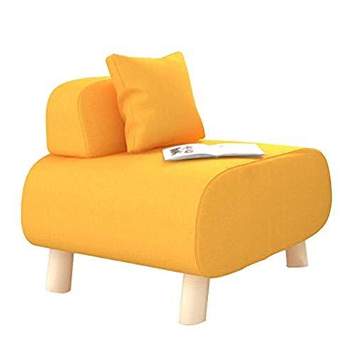XIONGXIONG Sillón Sofá de Asiento para la Sala de Estar Paño Individual Lazy Sofá pequeño Sillón Moderno y Simple para la Sala de Estar y Dormitorio (Color : Yellow, Size : 56 * 54.5 * 50cm)