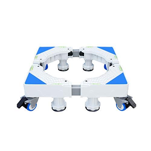 Socle Lave Linge Base de Machine à Laver 4/8 Pieds 4 roulette Réglable 40-68cm Stent Réfrigérateur/Sèche-linge Support mobile Climatiseur intérieur Support Charge 350 kg