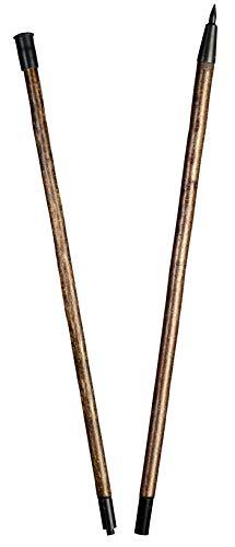 Stock Fachmann Perche à alpines en 2 parties en dentelle massif forgée Charge maximale 100 kg Marron bois