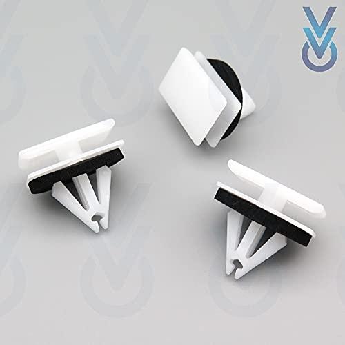 VVO Befestigungsclips für Seitenschweller, Schweller, Abdeckleisten, Kunststoff, Weiß, 10 Stück