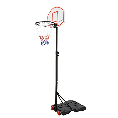 HooKung Portable Junior Basketball Hoop Stand Free Standing with Height Adjustable for Kids