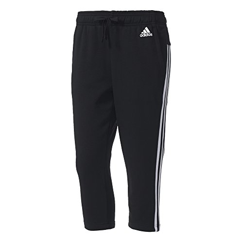 adidas Damen Hose Essentials 3-Stripes 3/4, Black/White, S, S97105