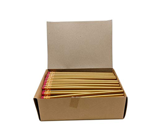 Impex Round Wood #2 HB Pencils (1 Gross, Bulk Lot of 144pcs, Classroom Set) Over 20 Colors and New Neon Styles