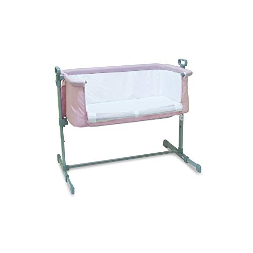 Berço lateral acoplado side by side Co Slepeer Baby Style Rosa