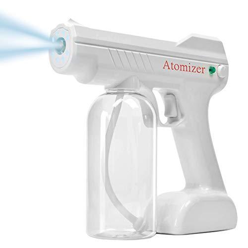 YIESERRA Steam Gun, Handheld Rechargeable Nano Atomizer 27oz Large Capacity ULV Electric Sprayer Nozzle Adjustable Fogger for Home, Office, School or Garden