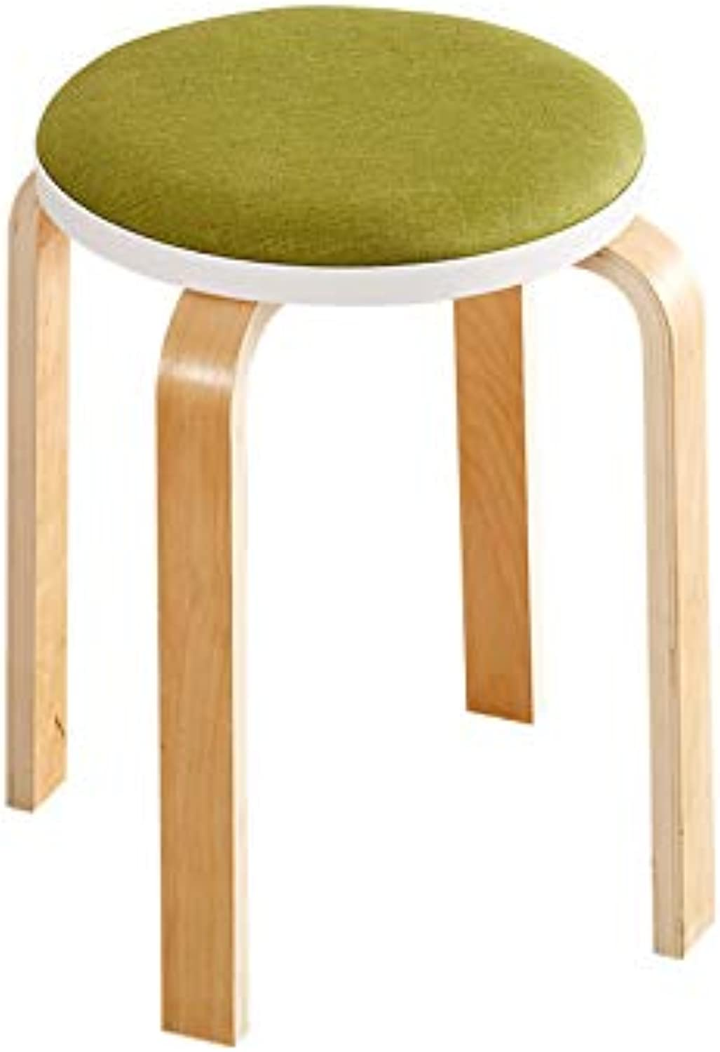 Small Bench Fashion Cloth Grass Green Multi-Function Chair High Stool Dressing Stool Living Room Dining Room Bench (color   Green, Size   45x32cm)