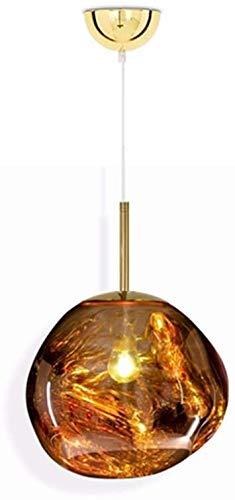 NOTREPP Lámparas Barras De Hierro, Lava Fundida De Vidrio Transparente Pendiente De La Lámpara LED Luces Modernas Lava Irregular,A