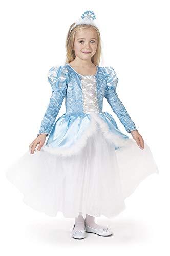 Caritan-480100 - Vestido de princesa Anastasia de lujo, azul con diademe, para niña, 480100, 5-7 años