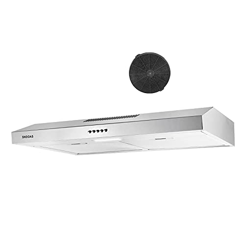 Under Cabinet Range Hood 30 inch 30 in. Kitchen Vent Hood in Stainless Steel Range Hood 30 inch with Ducted/Ductless Convertible Slim Kitchen Over Stove Vent Under Cabinet Range Hood  SNDOAS