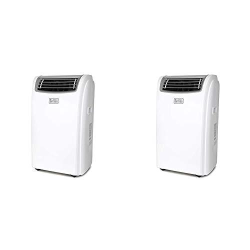 Black + Decker BPACT12HWT Portable Air Conditioner, 12,000 BTU with Heat, White & BPACT14HWT Portable Air Conditioner, 14,000 BTU w Heat, White