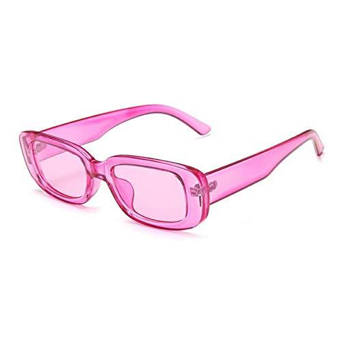 ZZOW Gafas De Sol Rectangulares De Moda para Mujer, Lentes Transparentes De Color Caramelo, Gafas De Sol De Tendencia para Mujer, Gafas De Sol Vintage para Hombre, Gafas Uv400