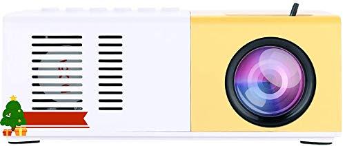 Portable 1080P HD Projecteur Mini Projecteur Projecteur de Cinéma Maison Projecteur LED Convient pour Les Loisirs en Plein Air, Divertissement Théâtres Maison Cadeau 110 V-240 V