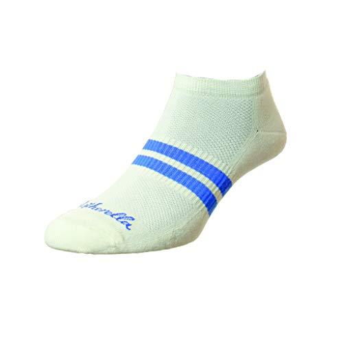 Pantherella Herren Sport Luxe Sprint Sneaker Socken 1 Stück Gr. Large, cremefarben