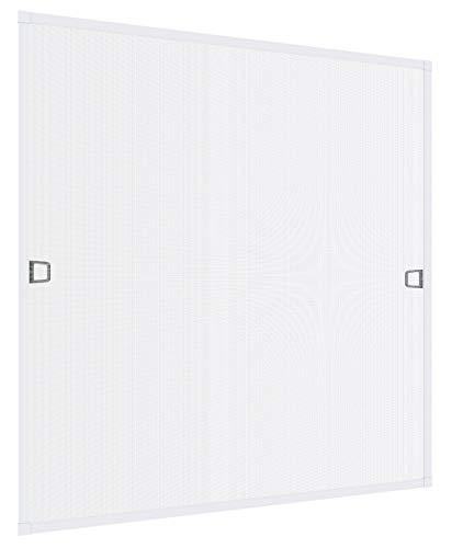 Windhager Insektenschutz Spannrahmen Fliegengitter Alurahmen für Fenster Ultra Flat, 100 x 120 cm, weiß, 03957