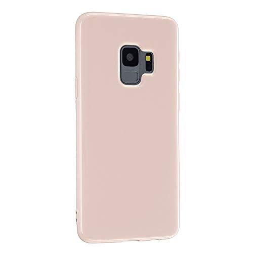 CrazyLemon Hülle für Samsung Galaxy S9, Niedlich Volltonfarbe Gelee Design Weich TPU Silikon Slim Dünn Handyhülle Stoßfest Schutzhülle - Hellpink