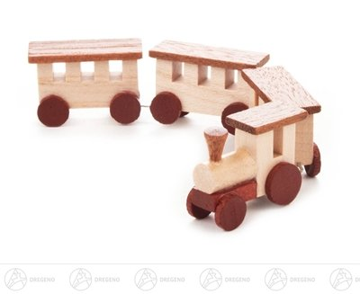 Spielzeug Mini-Eisenbahn natur Breite x Höhe ca 12,5 cmx2 cm NEU Erzgebirge Bahn Lok Zug