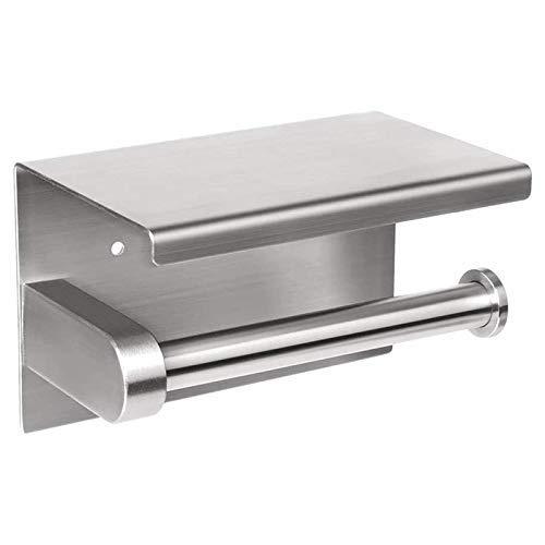 DealMux Soportes para papel higiénico autoadhesivos o perforadores de pared Soportes para pañuelos Almacenamiento de papel con estante de...